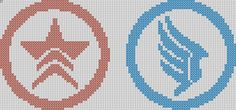 Mass Effect Inspired Renegade and Paragon by StitchedPixels