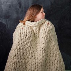 Cute ivory color for chunky blanket!