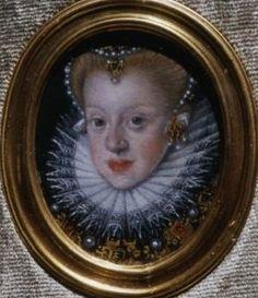 Artist Martin Kober   Title English: Miniature of Queen Anna Habsburg. Polski: Miniatura królowej Anny Habsburżanki. Date1598 Mediumoil on tin plate
