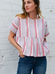 How To Sew a Womens Boxy Gathered Top | WeAllSew