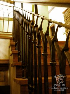 Craftsman Style Railing with Slit and Drift Pass Through Detail