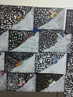 Best 11 Really like this winter artwork for kids. Winter Art Projects, Winter Project, Winter Crafts For Kids, Art For Kids, Bastelarbeit Winter, Winter Kids, Winter Theme, Classroom Crafts, Preschool Art