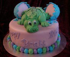 Baby dragon cake