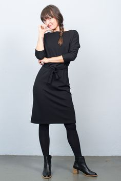 King Louie Missy Milano Crepe Dress Black