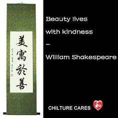 Buy this Beauty Lives with Kindness #Chinese #Calligraphy Wall Scroll! View more #Chinese beautiful #Calligraphy Wall Scroll at www.chilture.com