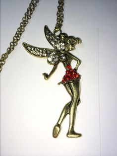 3 Tinker Bell Fairy Tinkerbell Angel Necklace 28 by KuhusBoutique, $4.99
