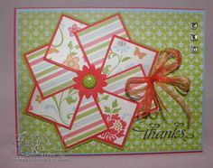 Love the idea of using matted squares to form a flower.