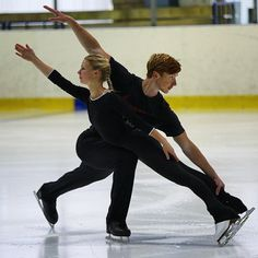 Eugenia Tarasova and Vladimir Morozov in training, summer 2015