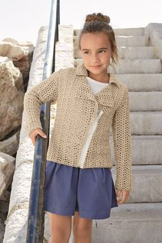 6a0b1436ef617 Girls Perfect Jacket Cardgian in Cotton Downloadable PDF Quick Knits