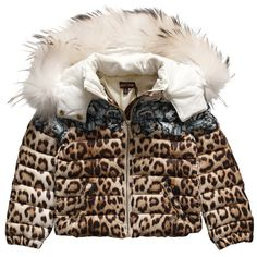A hot item is the Roberto Cavalli Girls Leopard Down Padded Puffer Jacket!