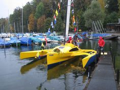 Dani's Scarab 650 trimaran was the first one built