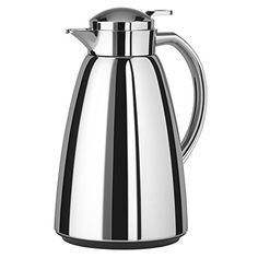Buy Tefal Campo Vacuum Hot Drinks Flask, Chrome, from our Jugs range at John Lewis & Partners. Hot Coffee, Coffee Shop, Coffee Server, Georgia Homes, Vacuum Flask, Coffee Machine, Kitchen Pantry, Kitchenware, Tea Pots