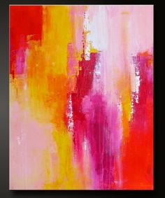 "Abstract acrylic painting, contemporary fine art, 28"" x 22"" ""Sorbet 2"""