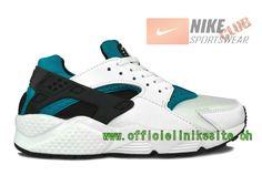 Nike Air Huarache - Chaussure Nike Sportswear Pas Cher Pour Homme Blanc/Vert 318429-201