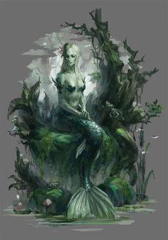 Other Humanoids - Fantasy Art Mermaid Artwork, Mermaid Drawings, Fantasy Mermaids, Mermaids And Mermen, Fantasy Creatures, Mythical Creatures, Siren Mermaid, Mermaid Pose, Foto Portrait