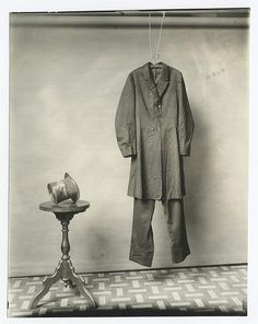 The suit and hat worn by Lincoln on the night of his assassination ca. 1890