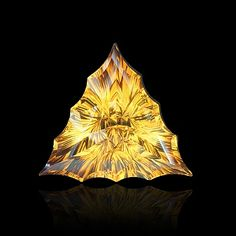 """shalloped triangle-shaped """"triumvirate""""? cut citrine by gems by design, inc."""