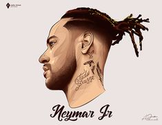 Neymar Football, Football Art, Goat Football, Neymar Jr Wallpapers, Cristiano Ronaldo Wallpapers, Psg, Ronaldo Juventus, Vector Portrait, Digital Portrait