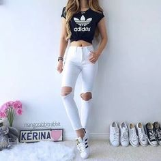 Get inspired by the 30 simple casual outfit ideas that suitable for every woman. Teenage Outfits, Teen Fashion Outfits, Cute Fashion, Outfits For Teens, Fashion Clothes, Girl Fashion, Style Clothes, Clothes Uk, Teenage Clothing