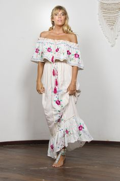 """""""Seeker Lover Keeper Nursing Dress"""" Embroidered Nursing Maxi Dress - Cross Stitch Fillyboo - Boho inspired maternity clothes online, maternity dresses, maternity tops and maternity jeans. Long Fall Dresses, Summer Holiday Dresses, White Dress Summer, Dresses For Teens, Summer Dresses For Women, Maternity Clothes Online, Maternity Dresses, Maternity Jeans, Maternity Tops"""