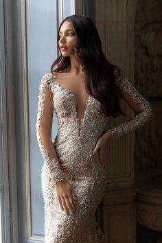 Cathedral Wedding Dress, Wedding Dress Low Back, Fit And Flare Wedding Dress, Long Wedding Dresses, Long Sleeve Wedding, Bridal Dresses, Dress Wedding, Lace Wedding, Formal Dresses