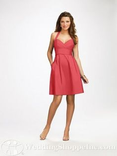 Bridesmaid Dress 7109 by Alfred Angelo - comfy, cotton, and completely re-wearable as a summer sundress!