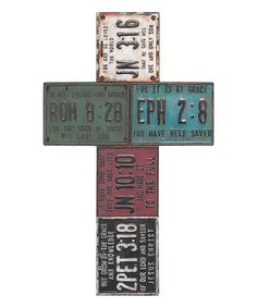 Look at this #zulilyfind! License Plate Wall Cross #zulilyfinds