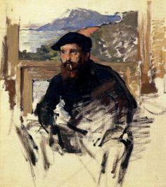 Claude Monet       self portrait in his atelier