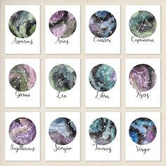 Dierenriem sterrenbeelden Set voor Prints sterrenbeeld