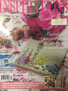 Inspirations Magazine: The World& most beautiful Embroidery Issue 53 Inspirations Magazine, Sewing Material, World's Most Beautiful, New Crafts, Pattern Design, Presents, Gift Wrapping, Bird, Embroidery