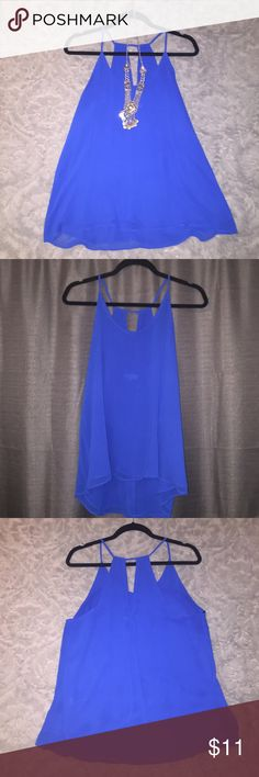Blue Top Blue haltered top. Very good condition! Worn few times. Tops Blouses