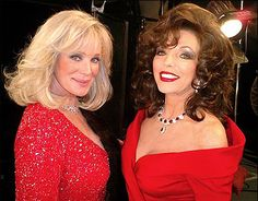 """Linda Evans and Joan Collins re-unite in 2006, in the stage play """"Legends""""."""