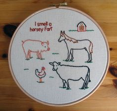 Horsey fart. WhatParty. $40 #stitching