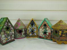 Assorted Mosaic Birdhouses  Mosaic Gumbo on etsy.com