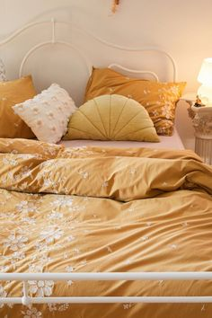 Shop Samantha Embroidered Floral Duvet Cover at Urban Outfitters today. We carry all the latest styles, colors and brands for you to choose from right here. Yellow Comforter, Comforter Cover, Duvet Cover Sets, Comforter Sets, Yellow Bed Sheets, Yellow Bedding Sets, Boho Duvet Cover, Colorful Bedding, Full Duvet Cover