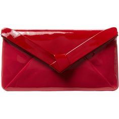 L.K.Bennett Women's Lydia Patent Leather Envelope Clutch - Red (3,845 MXN) ❤ liked on Polyvore featuring bags, handbags, clutches, bolsas, purses, red, patent leather handbags, handbags purses, red patent leather handbag and convertible clutch