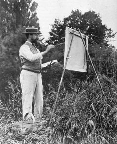 John Singer Sargent painting at Fladbury, England, saw his work in Seattle, WA. Pretty amazing. they were literally bigger than life, HUGE paintings.