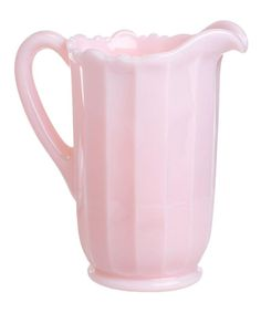 Add a pretty pop of pink to the kitchen with this panel pitcher that boasts a vintage vibe.