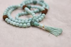 peruvian opal with rudraksha bead #mala. One of a kind. Impossible to duplicate. Custom mala for a lovely customer in Italy.