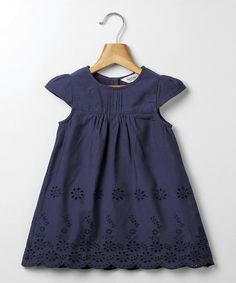 Look at this Beebay Navy Schiffi Dress - Infant & Toddler on #zulily today!