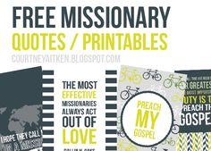 All Things Bright and Beautiful:  Missionary quotes in both boy and girl colors