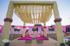 Are you looking for the perfect inspiration for your mandap decor? Let us enlighten you with some amazing mandap decor designs for 2020 weddings Wedding Hall Decorations, Desi Wedding Decor, Marriage Decoration, Wedding Entrance, Flower Decorations, Wedding Colors, Table Decorations, Indian Wedding Receptions, Wedding Mandap