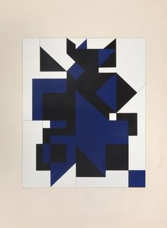 Victor Vasarely, Utica, 1954-55  Victor Vasarely (Hungarian-French, 1906-1997) is one of the founding fathers of the Op-Art movement in Europe.  Exclusive works from Fondation Vasarely.