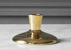 Designed by renowned Swedish designer Thomas Sandell, the Theater candlestick was originally developed for Stockholm restaurant Teatergrillen. Made entirely from polished brass, the candlestick makes a stunning addition to a table setting. Home Theater Speakers, Home Theater Projectors, Stockholm Restaurant, Home Theater Furniture, Polished Brass, Candlesticks, Incense, A Table, Home Accessories