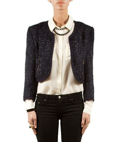 Taylor Jacket - Not sure we're lovin the skinny hipster pants, but the jacket and blouse are perfection!