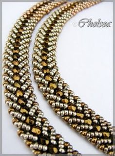 Two tutorials are listed by someone helpful in the replies.  Auntie's Beads tutorial looks a lot like the pictured bracelet, but the Bead and Button tutorial shows you how to make an inside band for the work, which is really professional looking.  Take your   http://jewelryfoster.blogspot.com