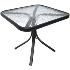 Square Outdoor Glass Top Side Table Perfect Patios Backyards Decks Multi Uses  #Mainstays