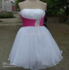 Wholesale Hot sale Retro Homecoming Dresses A Line Strapless Knee length Organza Coctail Dresses