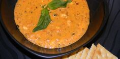 Crock Pot Creamy Roasted Red Pepper Soup - so YUMMY!  www.getcrocked.com