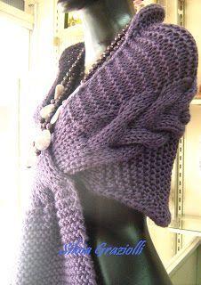 Olá meninas!! Esta estola fez tanto sucesso que resolvi antecipar o PAP para vocês... Usei 5 novelos da lã Sedificada da Pingouin (fio ... Manta Crochet, Knitted Shawls, Knit Dress, Needlework, Knitting Patterns, Diy And Crafts, Cashmere, Embroidery, Womens Fashion